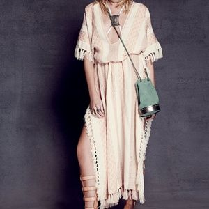 free people Maxi Weave Pullover Poncho